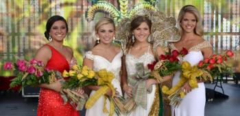 The 77th International Rice Festival Queen and her court, from left, Miss Congeniality Maggie Mott, first runner-up Allie Doise, Queen Hailey Hensgens and second runner-up Melissa Minton.
