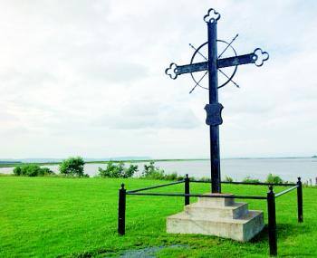 The Deportation Cross located at the site of the Grand Derangement in Nova Scotia (Acadie) when Acadian families were forced from their homes by the British in 1755.
