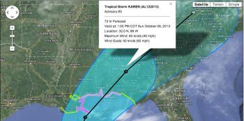Tropical Storm Karen is currently projected to make landfall east of Louisiana, thanks in part to a cold front set to hit Louisiana this weekend.