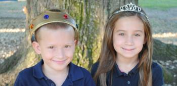 Chosen to represent Branch Elementary in the 2013 Rice Festival Junior King and Queen's Contest are, from left, Braylon Matlock, prince, and Analie Dupuis, princess. Braylon, a first grader, is the son of Ryan and Racheal Matlock, and Analie, a second grader, is the daughter of Chevy and Tori Dupuis.