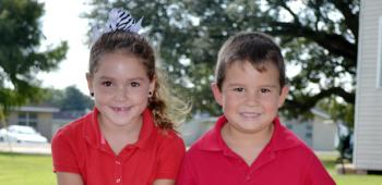 Mermentau Elementary School has chosen, from left, Gracie Miller, 7, princess, and Andrew Martin, 6, prince, to compete in the 2013 International Rice Festival Junior King and Queen's Contest, set for Friday, Oct. 18. Gracie, a second grader, is the daughter of Mandi and Brian Miller; and Andrew, a first grader, is the son of Millie and Chuck Martin.