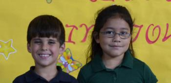 St. Michael School has chosen first graders, from left, Maria Ladner, princess, and Rusty Fulton, prince, to represent the school in the 2013 Rice Festival Junior King and Queen's Contest. Maria is the daughter of Victor and Jennifer Ladner and Rusty is the son of Dwayne and Christine Fulton.