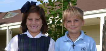 Chosen as St. Francis School's representatives in the 2013 Junior King and Queen's Contest were, from left, second graders Ava Hebert, princess, and Christian Leonards, prince. Ava is the daughter of Brett and Katie Hebert and Christian is the son of Bryan and Nancy Leonards. The contest is set for Friday, Oct. 18 during the International Rice Festival..